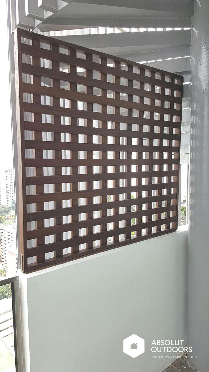 Using decking as screen