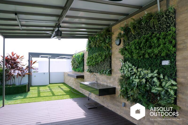 Artificial green wall inspiration absolut outdoors for Jardin vertical artificial