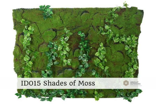 ID015 Shades of Moss Indoor Artificial Vertical Garden