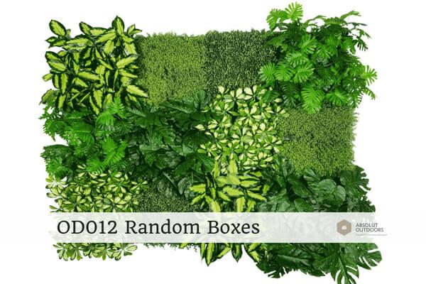 Outdoor Artificial Vertical Garden OD012 Random Boxes