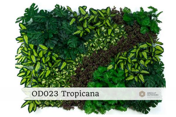 OD023 Tropicana Outdoor Artificial Green Wall