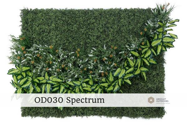 OD030 Spectrum Outdoor Artificial Green Wall