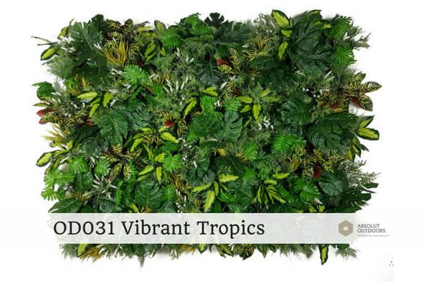 OD031 Vibrant Tropics Outdoor Artificial Green Wall