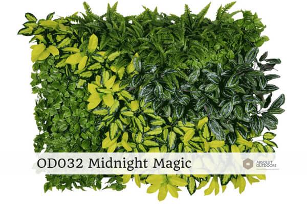 OD032 Midnight Magic Outdoor Artificial Vertical Garden