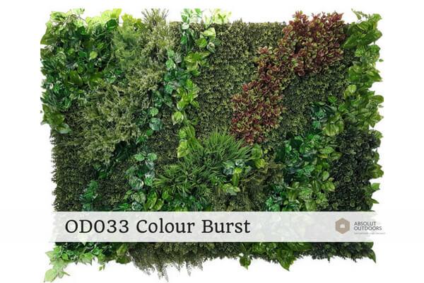 OD033 Colour Burst Outdoor Artificial Vertical Garden