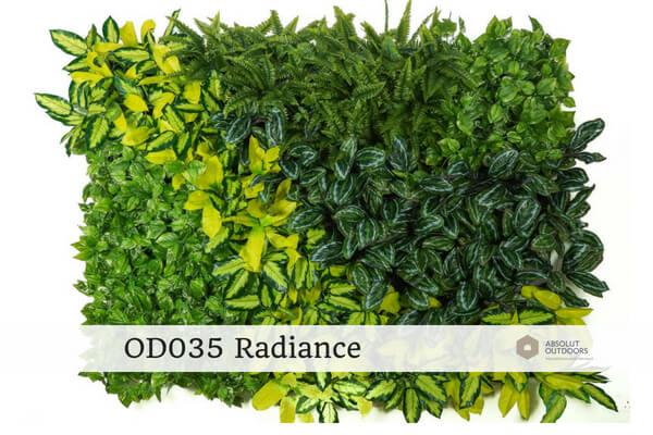 OD035 Radiance Outdoor Artificial Vertical Garden