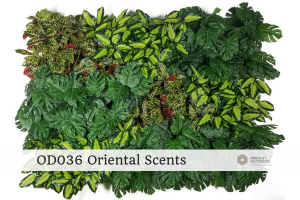 OD036 Oriental Scents Outdoor Artificial Vertical Garden