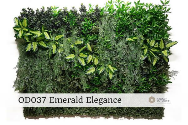 OD037 Emerald Elegance Outdoor Artificial Vertical Garden