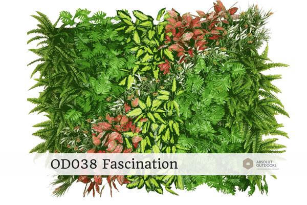 OD038 Fascination Outdoor Artificial Vertical Garden
