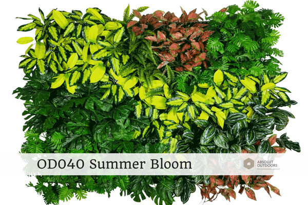 OD040 Summer Bloom Outdoor Artificial Vertical Garden