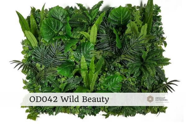 OD042 Wild Beauty Outdoor Artificial Vertical Garden