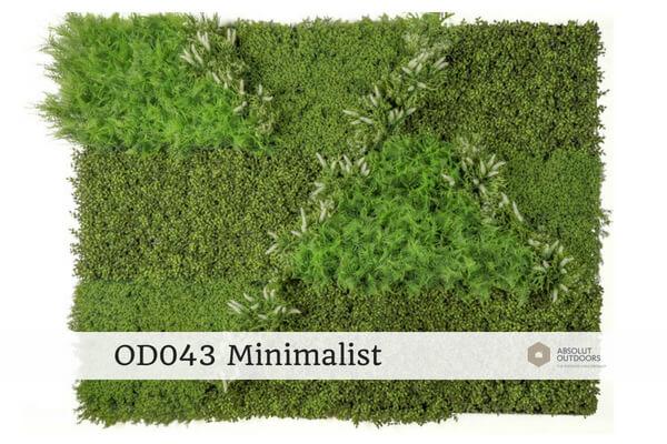 OD043 Minimalist Outdoor Artificial Vertical Garden