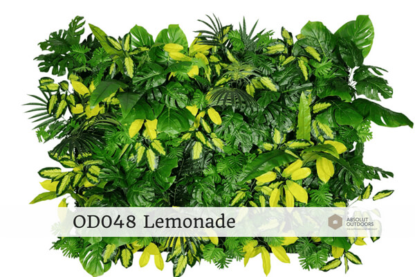 OD048 Lemonade Outdoor Artificial Vertical Garden