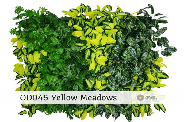 OD45 Yellow Meadows Outdoor Artificial Vertical Garden