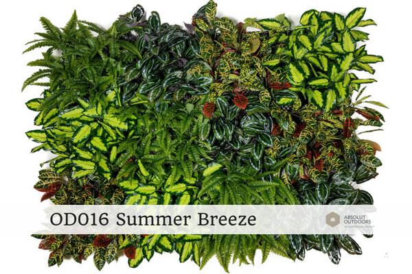 Outdoor Artificial Vertical Garden OD016 Summer Breeze